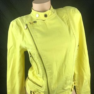 Ralph Lauren Jean Jacket Yellow Denim large d215